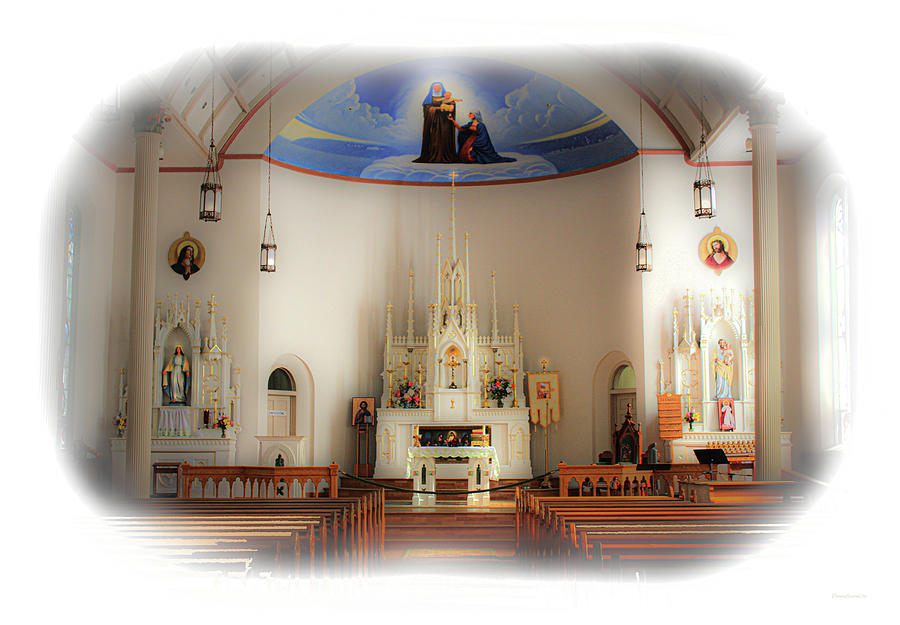 Saint Anne's Catholic Church by Diane Lindon Coy