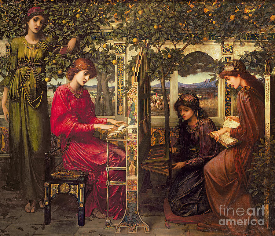 Saint Painting - Saint Cecilia By John Melhuish Strudwick by John Melhuish Strudwick