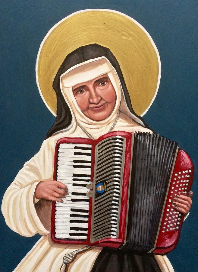 Saint Dulce of the Poor Painting by Kelly Latimore
