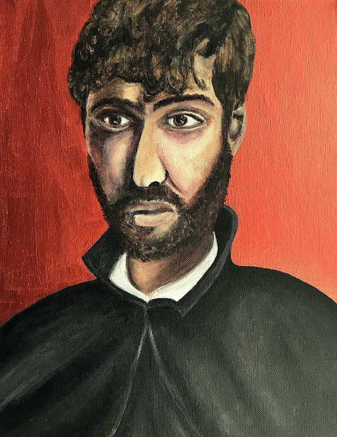 Portrait Painting - Saint Francis Xavier by Mikayla Ruth Koble