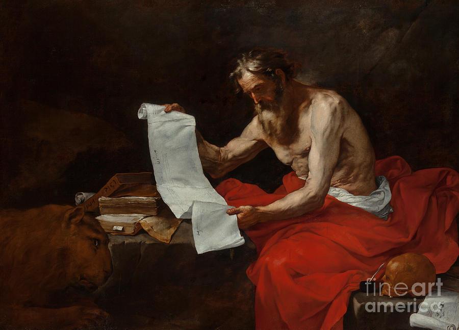 Saint Jerome Painting - Saint Jerome, 1646 by Jusepe de Ribera