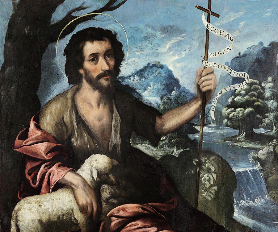 Saint John Baptist Painting by Baltasar de Echave Ibia