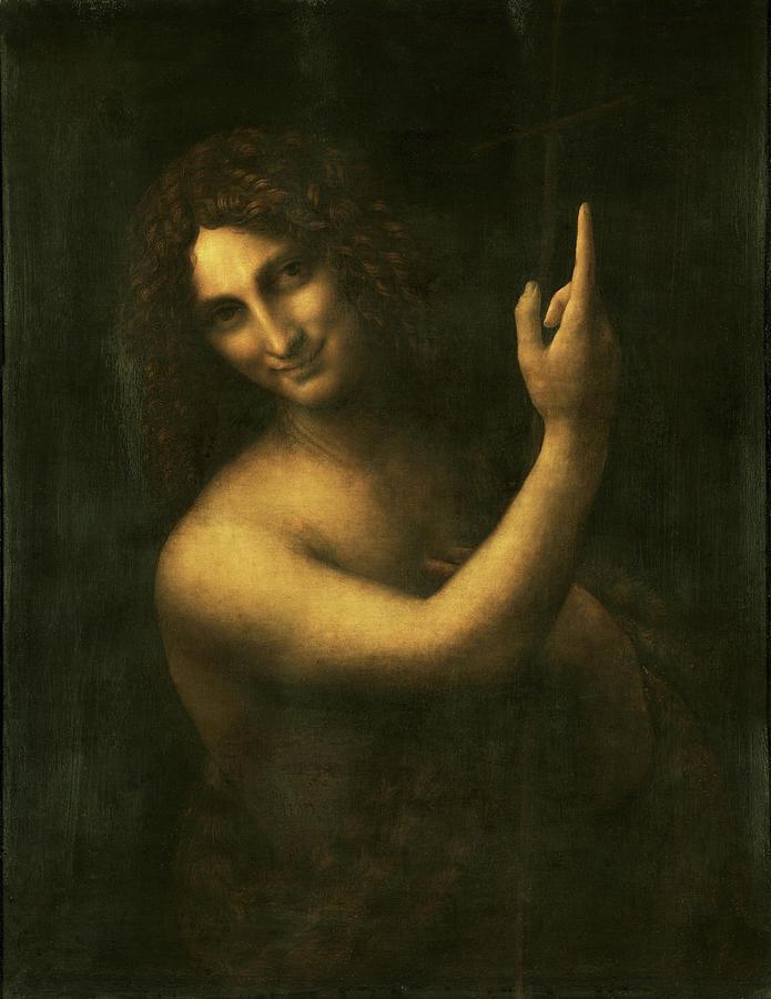 Saint John The Baptist Painting - Saint John The Baptist - Digital  Restored Edition by Leonardo da Vinci