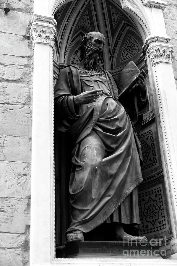 Saint John The Evangelist Photograph - Saint John The Evangelist At The Orsanmichele In Florence by John Rizzuto
