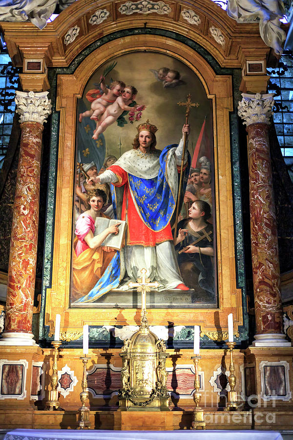 Saint Louis of the French Altar in Rome by John Rizzuto