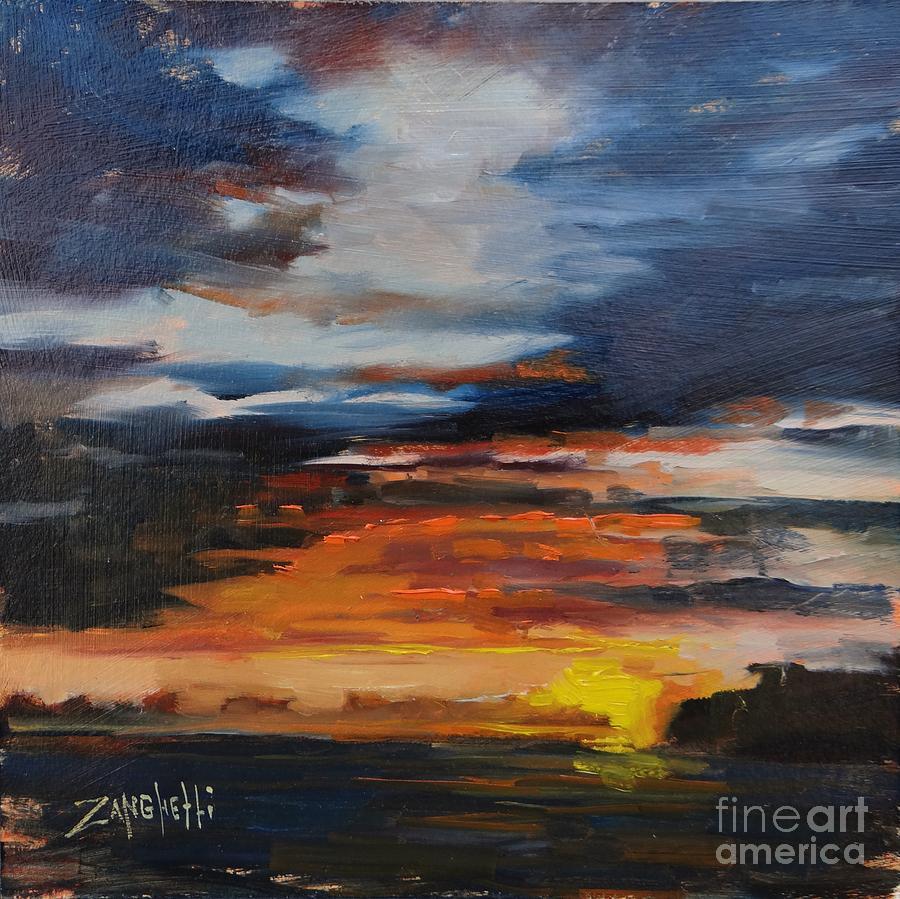 Saint Martin Painting - Saint Martin Sunset by Laura Lee Zanghetti
