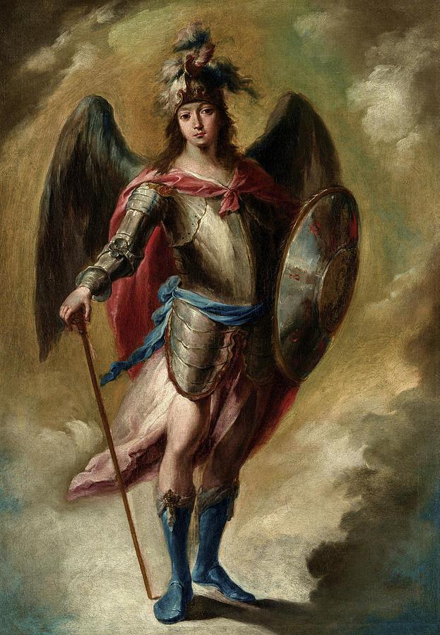 Espinal Painting - Saint Michael Archangel by Juan de Espinal