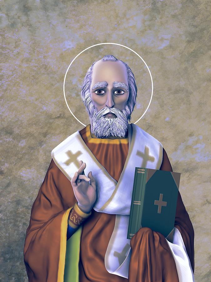 Saint Nicholas I Earthen Pallette by Dave Luebbert