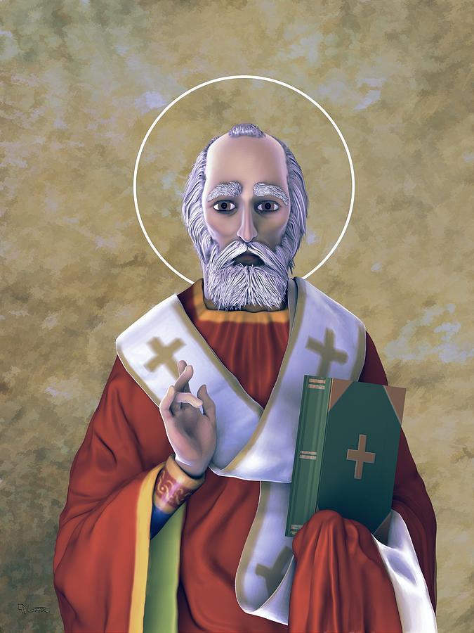 Saint Nicholas Lighting Three Earthen Pallette by Dave Luebbert