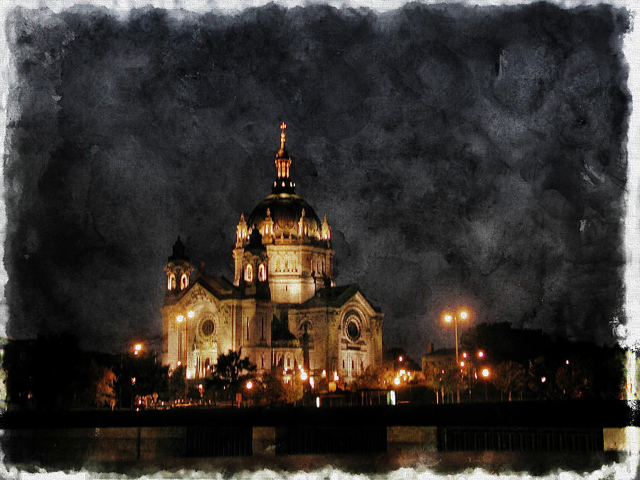 Saint Paul Cathedral at Night by Tom Reynen