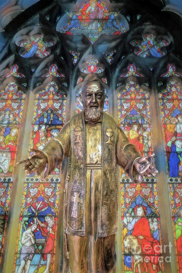 Padre Pio Photograph - Saint Pio Statue by Adrian Evans