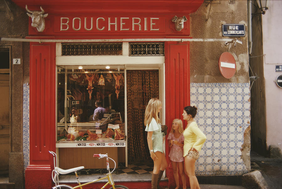 Saint-tropez Boucherie Photograph by Slim Aarons