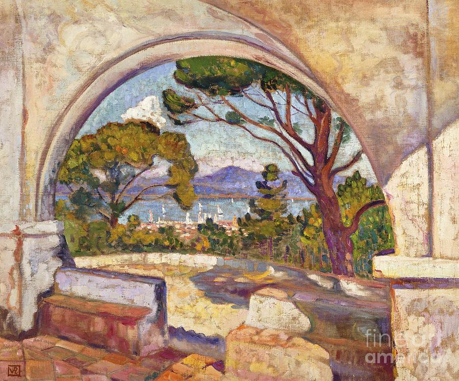 Saint Tropez Painting - Saint Tropez, Vue De La Chapelle St by Theo van Rysselberghe