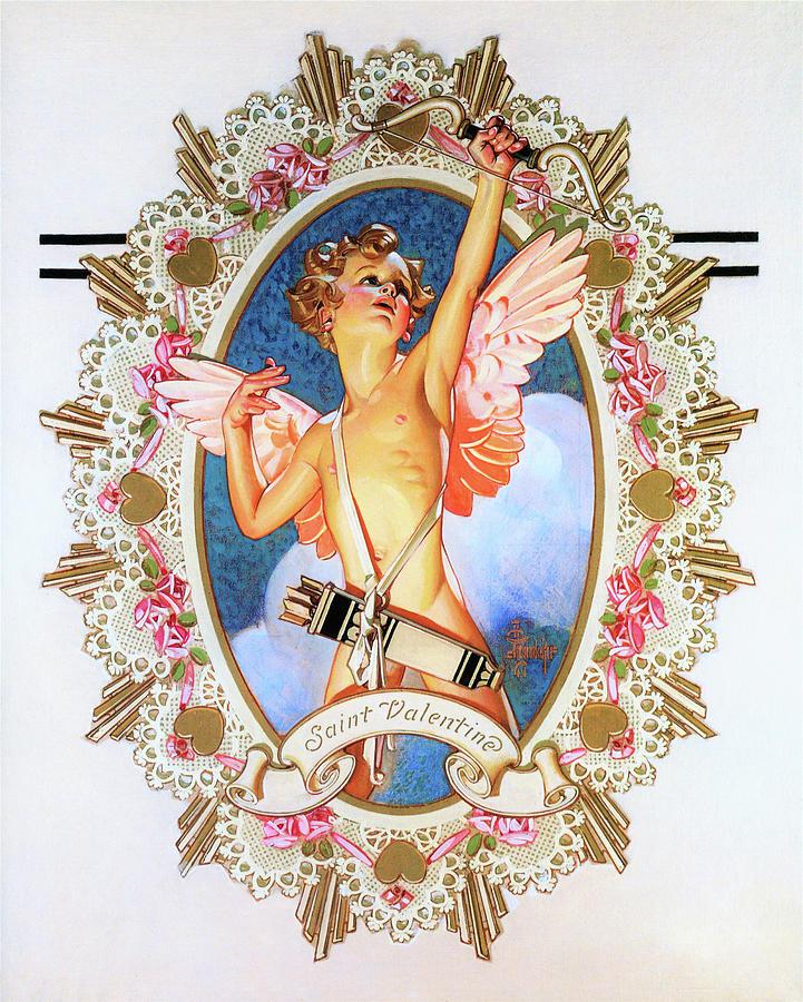 Joseph Christian Leyendecker Painting - Saint Valentine - Digital Remastered Edition by Joseph Christian Leyendecker
