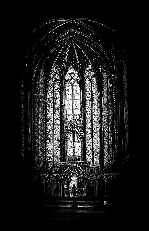 Sainte-chapelle Drawing - Sainte-Chapelle by Clint Hansen