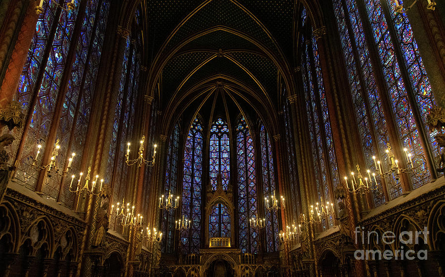 Sainte Chapelle Paris France by Wayne Moran