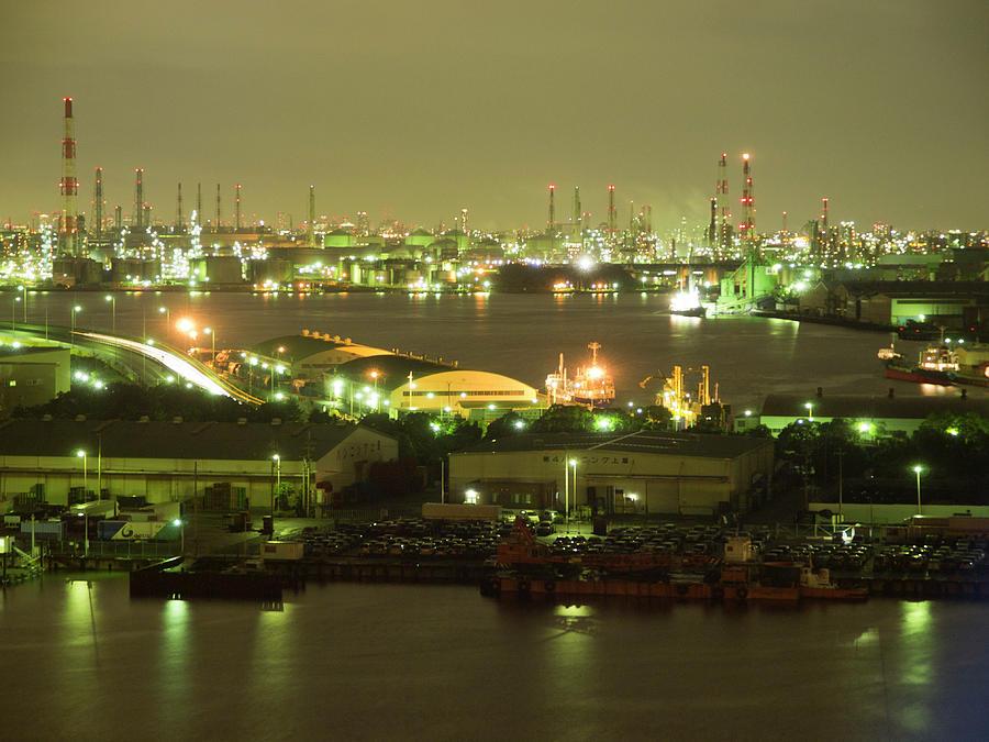 Sakai-senboku Industrial Area Photograph by Tetsuhiro Kikuchi