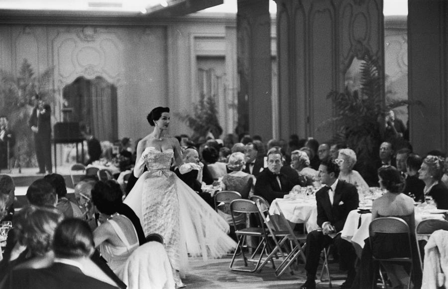 Saks Fashion Show Photograph by Slim Aarons