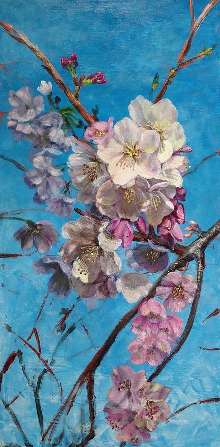 Figurative Painting - Sakura by Lin-Lin Mao