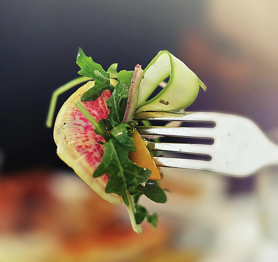 Salad Fork Photograph by Amparo E. Rios