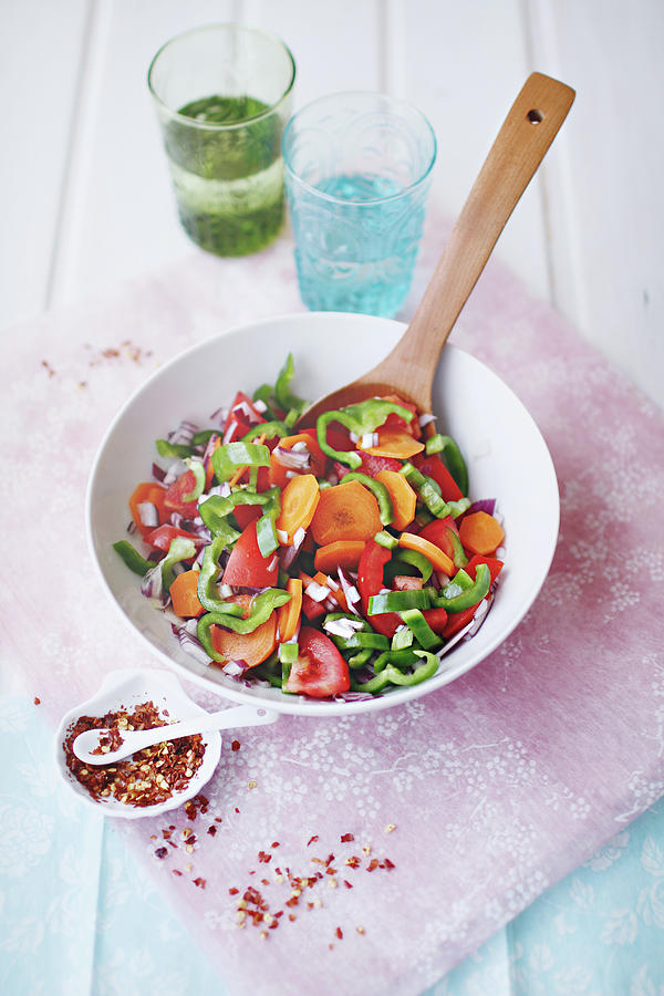 Salad Photograph by Julia Davila-lampe