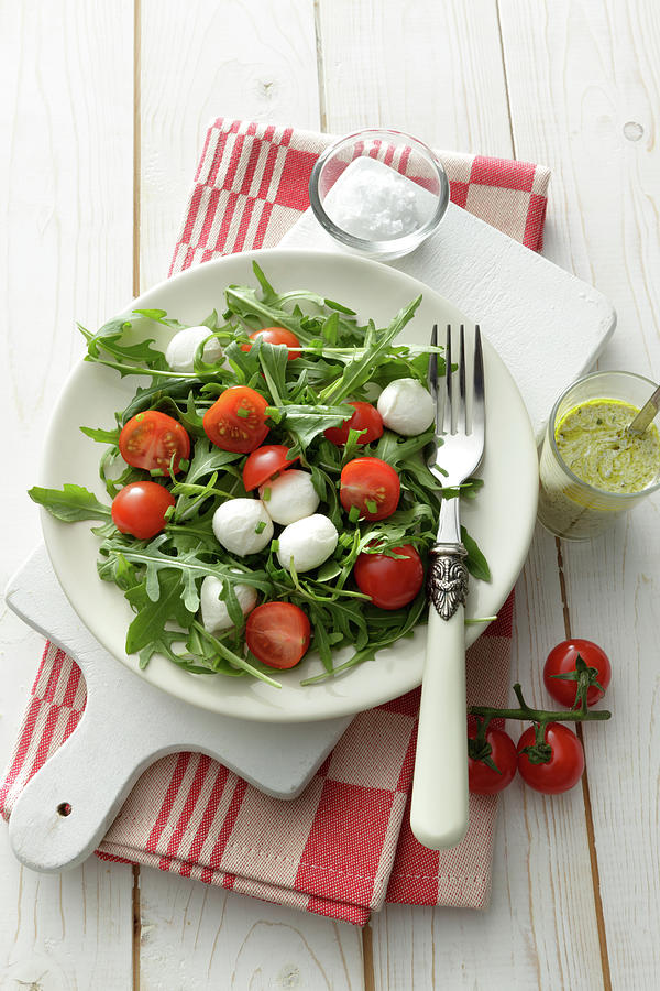 Salads Arigula Salad With Cherry Photograph by Floortje