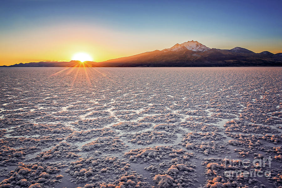 Salar De Uyuni At Sunset Bolivia
