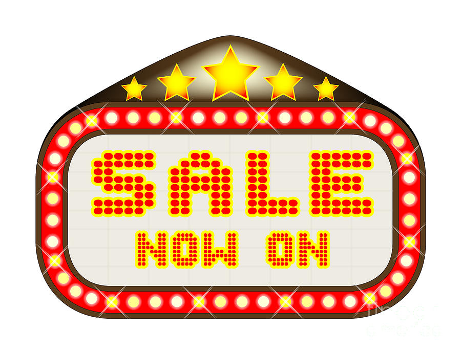 Sale Digital Art - Sale Theatre Marquee by Bigalbaloo Stock