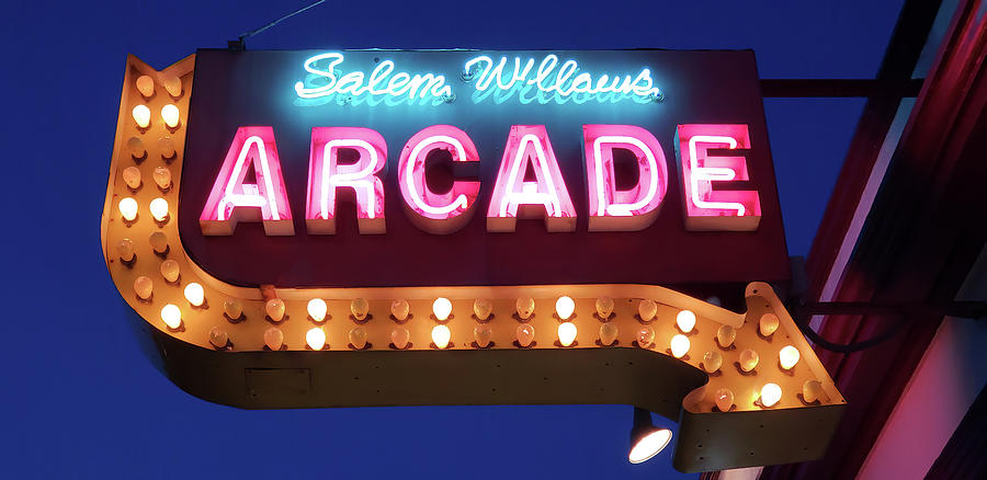 Salem Willows Arcade in Summer by Jeff Folger