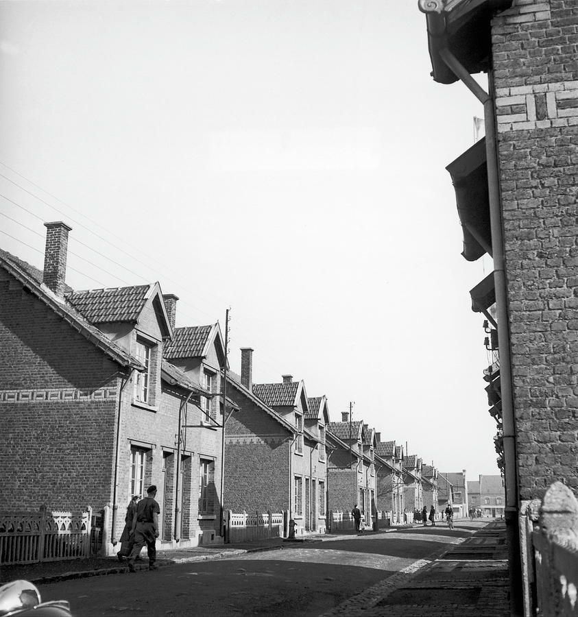 Sallaumines Miners Terraced Houses In Photograph by Keystone-france