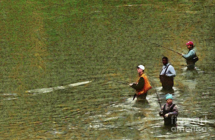 SALMON FISHING NISQUALLY RIVER by Susan Parish