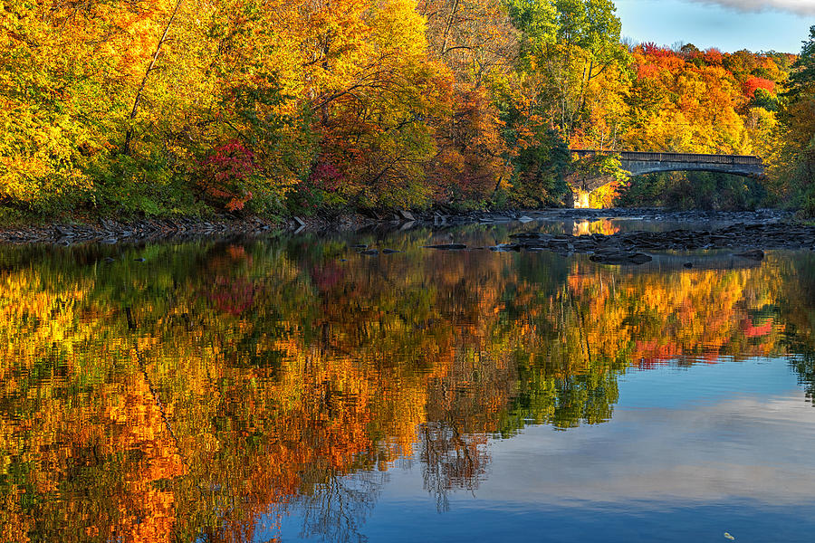 Salmon River Reflections by Rod Best