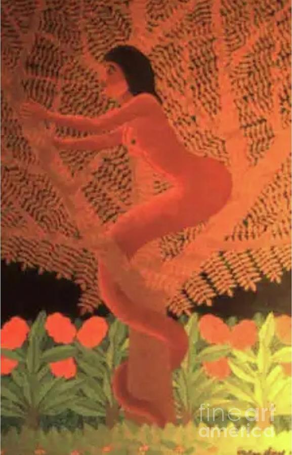Salnave Femme Dans Larbre Painting