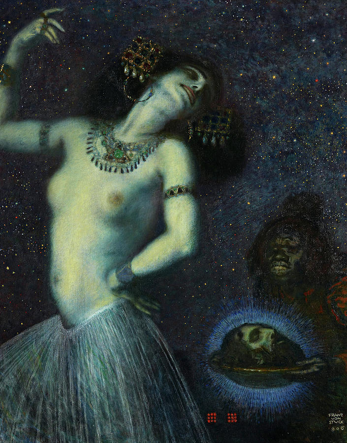 Franz Stuck Painting - Salome, 1906 by Franz van Stuck