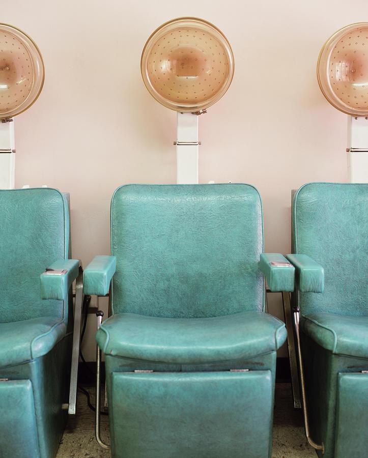 Salon Hair Dryers Photograph by Lisa Romerein