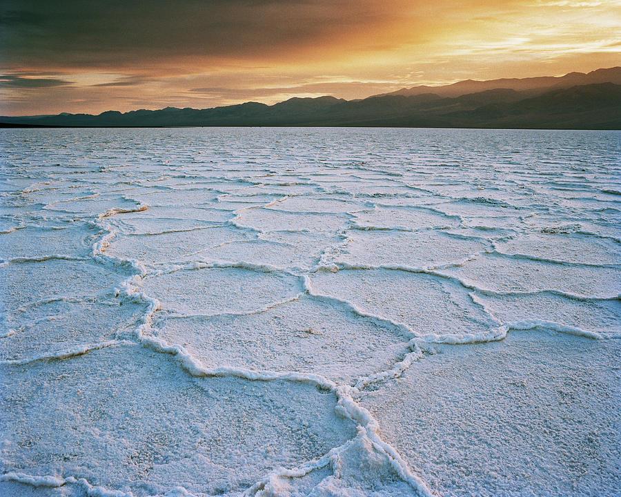Salt Flats At Sunset Photograph by Gary Yeowell