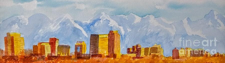 Salt Lake City Skyline by Walt Brodis