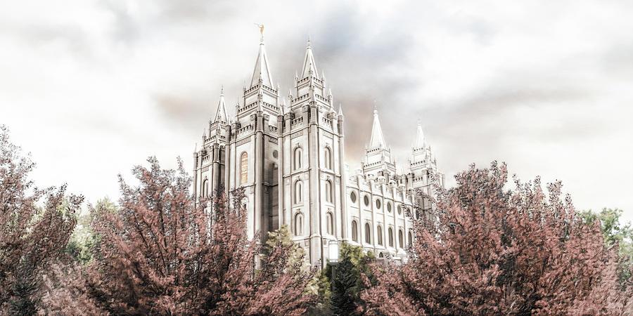 Salt Lake Painting - Salt Lake Latter Day Temple by Brent Borup