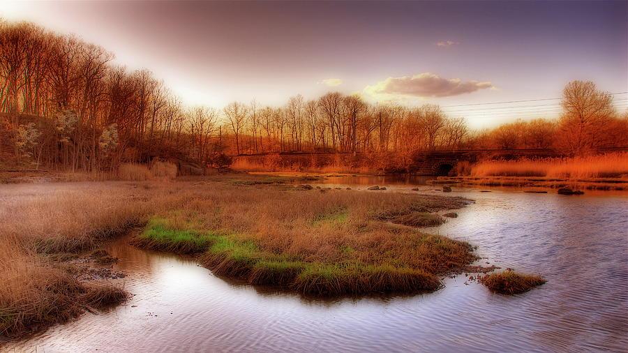 Salt Marsh In The Sunset Photograph by Frank Slack