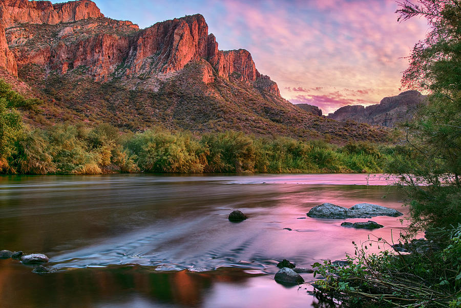 Salt River in Pink Sunset by Dave Dilli