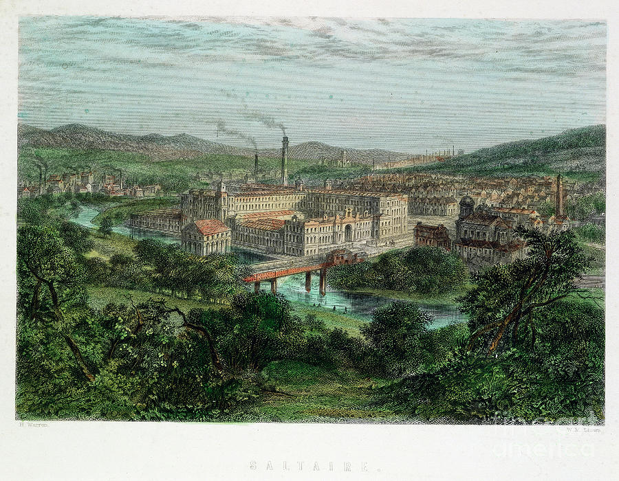 Saltaire, Yorkshire, 19th Century Drawing by Print Collector
