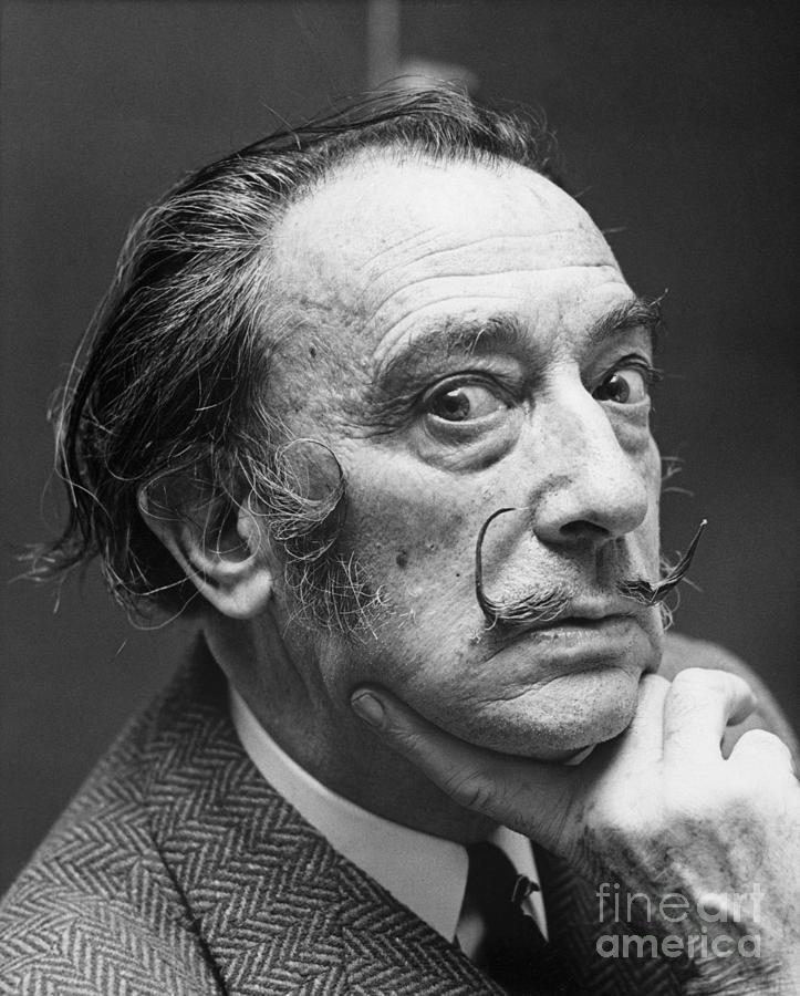 Salvador Dali Photograph by Bettmann