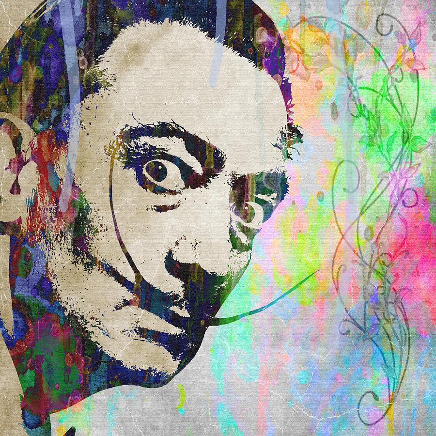 Salvador Dali Crazy Artist Watercolor