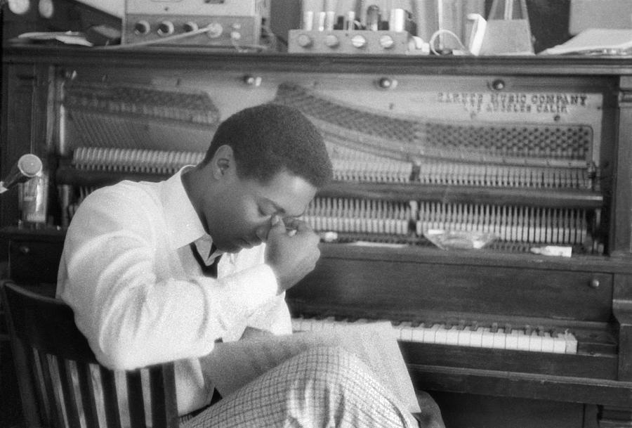 People Photograph - Sam Cooke At The Piano by Michael Ochs Archives