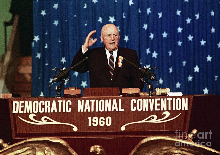 Sam Rayburn Speaking At Podium Photograph by Bettmann
