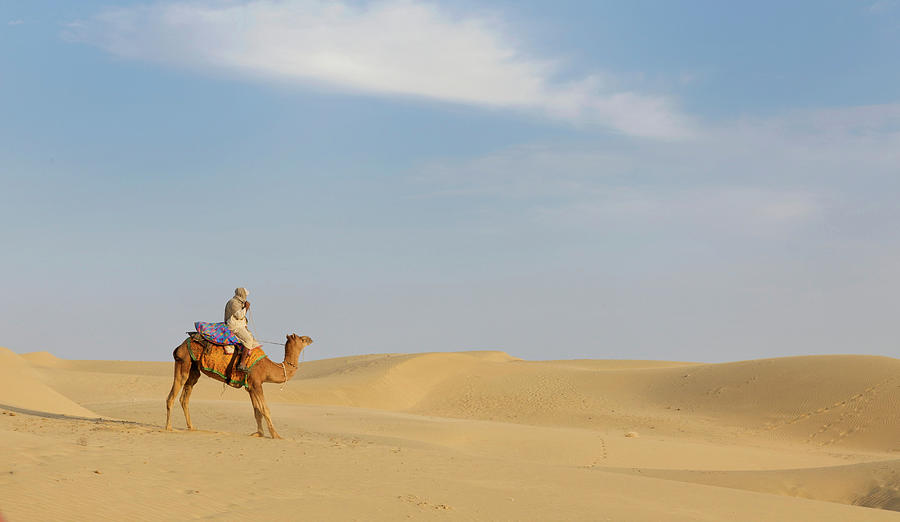 Sam Sand Dunes Near Jaisalmer, Rajasthan Photograph by Cultura Rm Exclusive/karen Fox