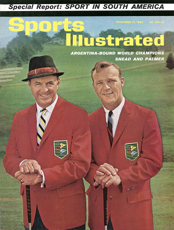 Sam Snead And Arnold Palmer, International Golf Sports Illustrated Cover Photograph by Sports Illustrated