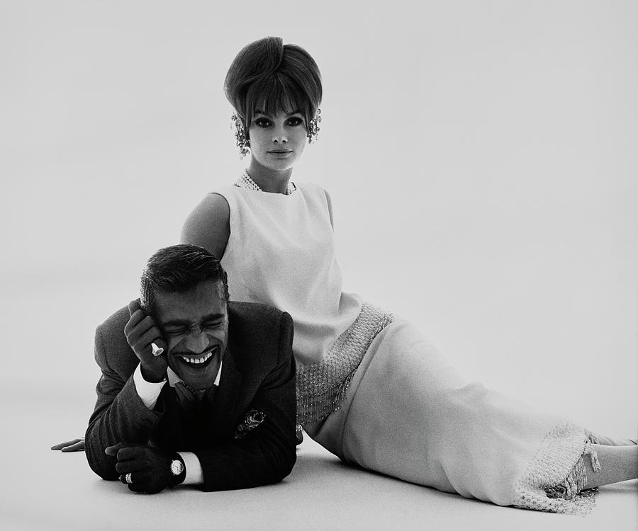 Sammy Davis Jr And Jean Shrimpton Photograph by Bert Stern
