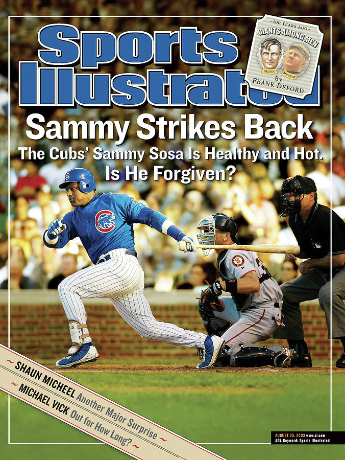 Sammy Strikes Back The Cubs Sammy Sosa Is Healthy And Hot Sports Illustrated Cover Photograph by Sports Illustrated