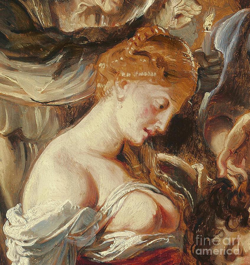 Rubens Painting - Samson And Delilah, Detail Of Delilah by Rubens